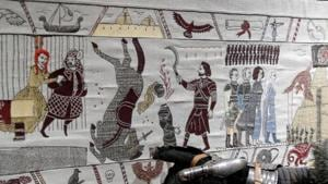 Fire and thread: Bayeux-inspired Game of Thrones tapestry unveiled in France