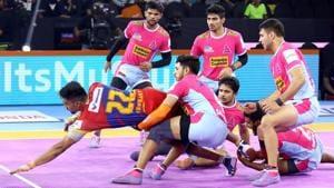 UP Yoddha defeated Jaipur Pink Panthers.(PKL)