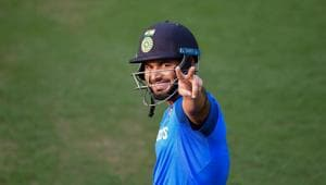 Rishabh Pant during a practice session ahead of their 2nd T20I match against South Africa.(PTI)