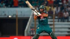 Mahmudullah in action for Bangladesh against Zimbabwe.(Twitter)