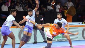 Puneri Paltan, Tamil Thalaivas settle for a 'tie'.(Pro Kabaddi League)