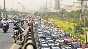 The transportation body is protesting against the steep hike in penalties for road traffic violations under the newly amended Motor Vehicles Act..(HT File Photo)
