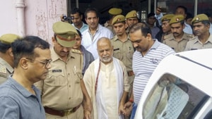The 23-year-old woman law student, along with her father, was untraceable for around 48 hours before Chinmayanand's arrest.(HT image)