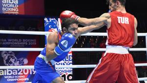 Amit Panghal has reached Worlds final.(PTI)