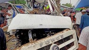 At least nine people died and 12 were injured in a road accident in Assam's Sivasagar district on Monday.(PTI Phot)