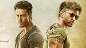 Tiger Shroff and Hrithik Roshan in a poster for War.