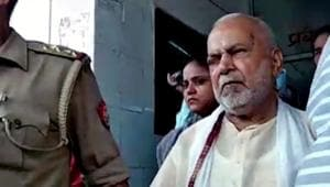 BJP leader Chinmayanand was arrested in Shahjahanpur on September 20, 2019, in connection with the alleged sexual harassment of a UP law student.(ANI)