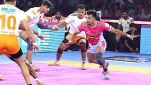 Jaipur Pink Panthers defeated Puneri Paltan.(PKL)