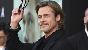 Brad Pitt arrives at the special screening of Ad Astra at ArcLight Cinemas.(AP)