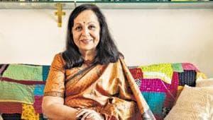 Veteran actor Rohini Hattangadi at her residence in Mumbai.(Aalok Soni/HT Photo)