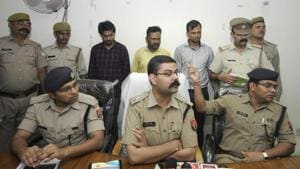 Three men were arrested by Noida police for allegedly murdering their colleague on September 8.(HT Photo)