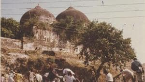 The Sunni Central Wakf Board clarified on Wednesday its Tuesday statement before the Supreme Court accepting Ram Chabutra (a platform within the disputed area) as the birth place of Lord Ram(HT Photo)