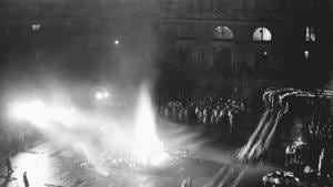 The Nazi Book Burning Campaign outside the Berlin University in Germany.(Photo: Getty images)
