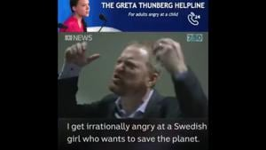 Greta Thunberg also shared the parody video with a witty caption.(Twitter/@markhumphries)