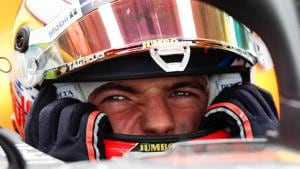 Red Bull's Max Verstappen during practice.(REUTERS)