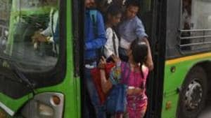 Over 5,500 ex-home guards will be deployed in Delhi buses for women safety.(Sushil Kumar/ Hindustan Times)