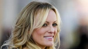 Stormy Daniels, whose real name is Stephanie Clifford, won $4,50,000 in a legal settlement with the city of Columbus, Ohio.(AP Photo)