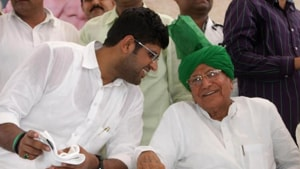 Former chief minister and Indian National Lok Dal (INLD) supremo, Om Prakash Chautala, who is out on furlough said on Saturday that his party has already completed the process of identification of candidates for the upcoming assembly polls,and it will be announced on October 2.(HT Photo)
