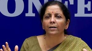 Finance minister Nirmala Sitharaman on Saturday asked 32 large central public sector enterprises (CPSEs) to frontload their capital expenditure and clear all dues of all goods and service providers by October 15.(ANI Photo)