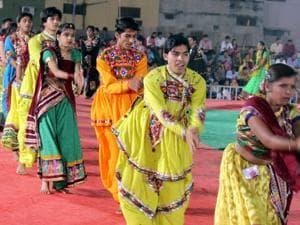 Bajrang Dal i n Hyderabad has asked organizers to make Aadhaar mandatory at entry-points during Garba/Dandiya festivals.(Shankar Mourya/HT photo/For Representative Purposes Only)