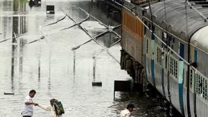 Railway tracks were flooded at several places in Bihar leading to cancellation and delays in train services. Passengers were left complaining(HT Photo/File/Representative)