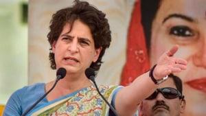 Congress general secretary Priyanka Gandhi Vadra.(HT image)