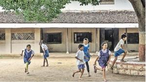 The school started by MK Gandhi and operated by Anand Niketan at Sevagram Ashram Pratisthan in Wardha, Maharashtra.(Satish Bate/HT)