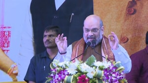 Home minister and BJP president Amit Shah attacked the Trinamool government in Bengal on Tuesday .(Photo: Babul Supriyo/ Twitter)