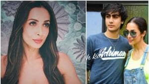 Malaika Arora was snapped with son Arhaan Khan on Wednesday.(Instagram)