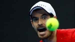 Andy Murray in action against Dominic Thiem of Austria.(REUTERS)