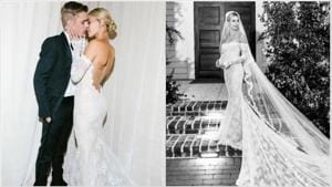 Hailey Baldwin finally shares pictures from wedding with Justin Bieber, see her stunning dress