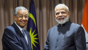"""Speaking at the UN General Assembly in September, Mahathir had said that Jammu and Kashmir had been """"invaded and occupied"""", and that India's action in the state was """"wrong"""". (PTI photo)"""