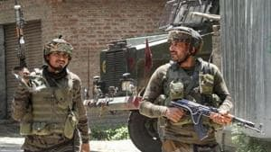 Security forces killed the two militants in a gunfight n Awantipora area of Pulwama.(PTI File Photo)