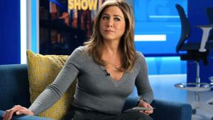 Jennifer Aniston in a still from the Apple TV+ series The Morning Show.