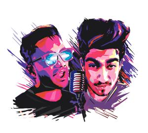 Tofik TC and Addy Nagar have earned their fame as fast rappers.(ILLUSTRATION: UNNIKRISHNAN AV)