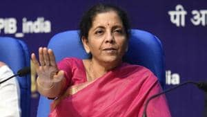 Finance Minister, Nirmala Sitharaman, said the banks have sufficient liquidity, and efforts are being made to ensure that due payments are released to the micro, small and medium enterprises (MSME) sector by large corporates.(Arvind Yadav/HT PHOTO)