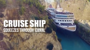 Netizens can't keep calm as cruise ship passes through a narrow canal