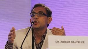 Dr Abhijit Banerjee, Ford Foundation International economist, MIT during the second session of Hindustan Times Summit at Taj Palace on New Delhi.(File photo by Mahender Parikh / Hindustan Times)