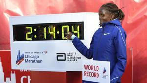 Kenya's Brigid Kosgei shatters Radcliffe world record in Chicago Marathon