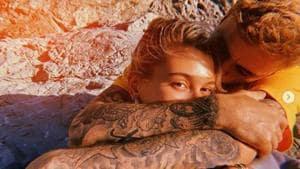 Justin Bieber crafts neckpiece for wife Hailey Baldwin Bieber.(Hailey Bieber/Instagram)