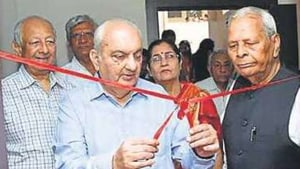 The institution organised a Yantra Pooja, and project exhibition on the occasion.(HT)