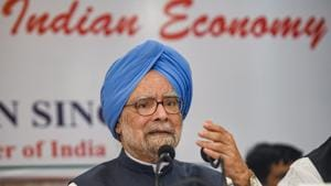 Former Prime Minister Manmohan Singh on Thursday said here was no hope of the government reaching the target of a $5 trillion economy by 2024.(PTI)