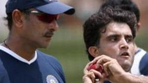 File image of Ravi Shastri and Sourav Ganguly (R).(AFP/Getty Images)