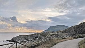 Visitors can synchronise their morning walk, in the beach town of Pobena, with the sunrise(Gaurav Gupta)