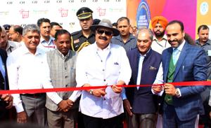 Punjab governor VP Singh Badnore inaugurating the 24th edition of the CII Chandigarh Fair at Parade Ground, Sector 17, in Chandigarh on Friday.(HT PHOTO)
