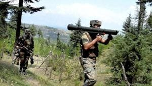 Indian Army on Sunday inflicted heavy damages and casualty on the Pakistan side after two Indian soldiers and a civilian were killed in ceasefire violation by Pakistan Army in Tangdhar sector of Kupwara. (PTI file photo)(Representative Image)