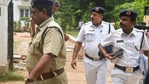The call centres were raided by 50 officers from the cyber division of the Kolkata Police on October 17 and seven people were arrested.(PTI PHOTO.)