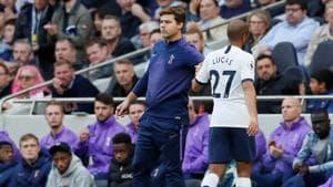 Tottenham Hotspur's Lucas Moura with manager Mauricio Pochettino(REUTERS)