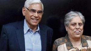 A file photo of Vinod Rai and Diana Edulji.(PTI)