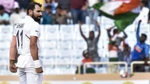 Indian bowler Mohammed Shami(PTI)